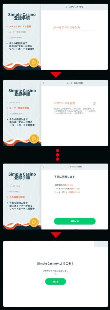 シンプルカジノ-登録手順
